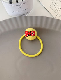 Fashion Bow Embroidered Fruit Hair Ring