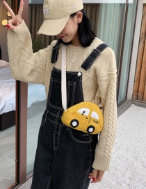 Fashion Yellow Car Cartoon Canvas Kids Messenger Shoulder Bag