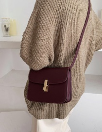Fashion Purple Locked Shoulder Crossbody Bag
