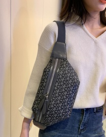 Fashion Light Grey Contrast Shoulder Cross Body Bag