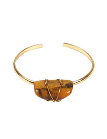Fashion Yellow Stone Alloy Natural Stone Bracelet