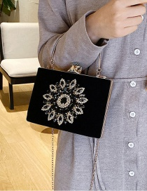 Fashion Black Diamond Chain Shoulder Bag