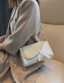 Fashion White Broadband Frosted Panel Crossbody Bag