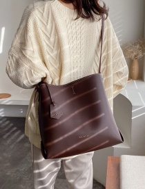 Fashion Fuchsia Bronzed Letter Shoulder Crossbody Bag