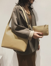Fashion Khaki Solid Color Shoulder Bag