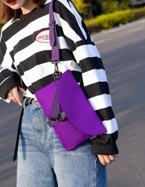 Fashion Purple Belt Buckle Crossbody Bag