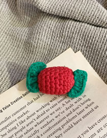 Fashion Candy Wool Candy Contrast Brooch