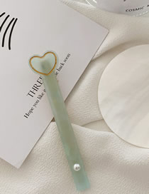 Fashion Mint Green Pearl Love Hair Clip