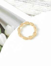 Fashion Golden Alloy Bamboo Ring
