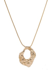 Fashion Golden Geometric Bump Necklace