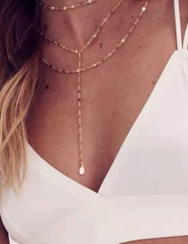 Fashion Golden Multi-layer Spliced ??necklace