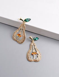 Fashion Champagne Pear-shaped Pierced Earrings With Diamonds