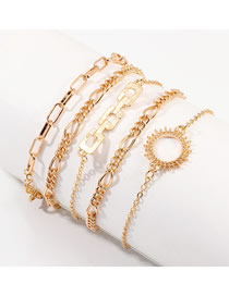 Fashion Golden Sun Flower Geometric Bracelet