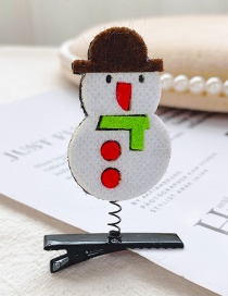 Fashion Little Snowman Christmas Snowman Child Spring Hair Clip