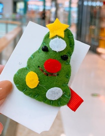 Fashion Green Villain Villain Stitching Child Hairpin