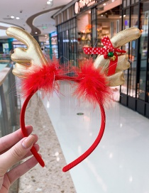 Fashion Golden Hairy Antlers Headband Antler Hairy Bell Child Hair Hoop