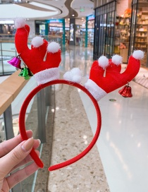 Fashion Big Bell Antlers Headband Antler Hair Ball Bell Child Headband