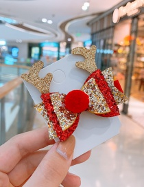Fashion Antler Bow Bow Antlers Sequins Child Hair Clip