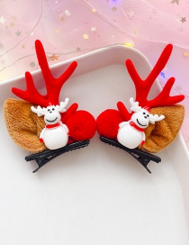 Fashion White Elk Red Antlers 1 Pair Antler Elk Hair Clip Set