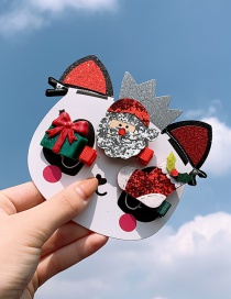 Fashion Christmas Santa Socks Children's Hair Clip Set