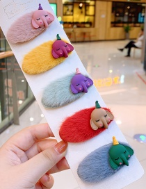 Fashion Plush Baby Elephant Hairy Elephant Hair Clip Set