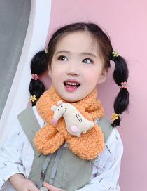 Fashion Orange Lambskin Mouse Mouse Scarf
