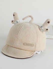 Fashion Light Grey Antler Patch Baby Hat