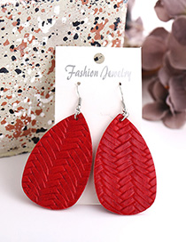 Fashion Red Drop Braided Earrings