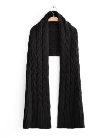 Fashion Black Reversible Cashmere Scarf
