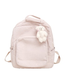 Fashion Pink Panelled Corduroy Backpack