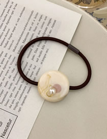 Fashion Milky White Round Resin Pearl Head Rope