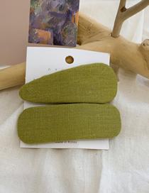 Fashion Water Drop Box-avocado Green Fabric Triangle Geometric Hairpin