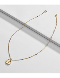 Fashion Golden Alloy Round Star Moon Necklace
