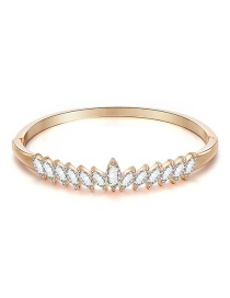 Fashion Rose Gold Alloy Bangle With Diamonds