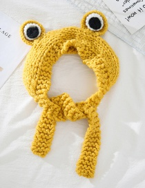 Fashion Yellow Frog Frog Wool Big Eyes Knitted Hat