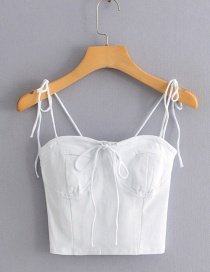 Fashion White Chest Strap With Two Straps