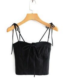 Fashion Black Chest Strap With Two Straps