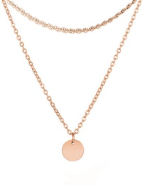 Fashion Rose Gold Gold-plated 316l Titanium Steel Lettering Gold-plated Necklace