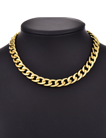 Fashion Golden Alloy Small Chain Necklace