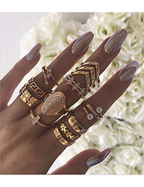 Fashion 925 Silver-6# Alloy Spiral Ring