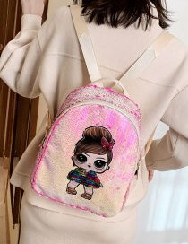 Fashion Pink Children's Backpack With Sequins
