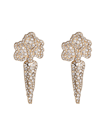 Fashion White Vegetable Carrot Earrings With Diamonds