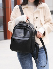 Fashion Black Letter Patch Backpack