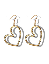 Fashion Golden Love Irregular Bump Earrings