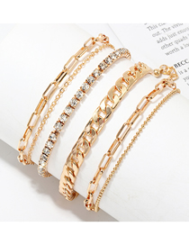 Fashion Golden Metal Anklet Chain Anklet Set