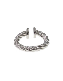 Fashion Silver Spiral (opening) Spiral Geometric Split Ring
