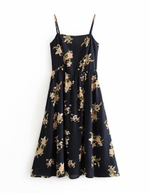 Fashion Navy Flower Print Camisole