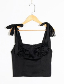 Fashion Black Lace-up Camisole Top