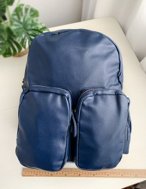 Fashion Blue Pu Backpack