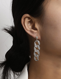 Fashion White K Diamond Earrings